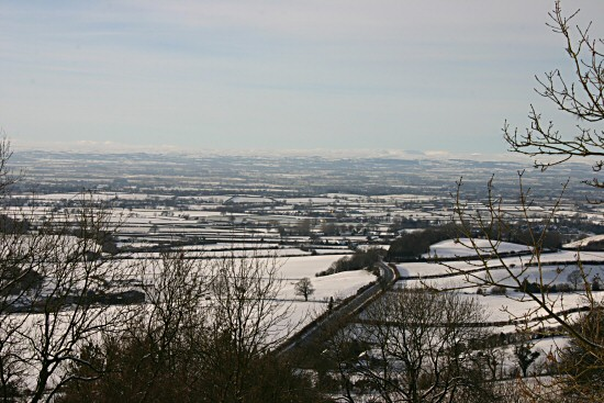Winter view from Sutton Bank North Yorkshire