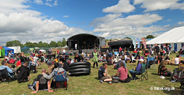The Willowman Festival main stage at Knayton