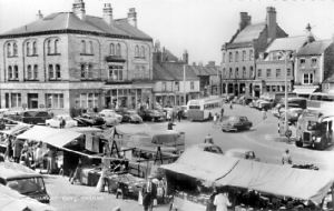 Thirsk Market Place in the 1960s