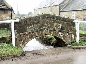 Humped bridge Boltby North Yorkshire