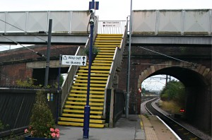 Thirsk Railway station steep stairs to all platforms not accessible no lift
