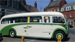 vintage bus Thirsk Market Place